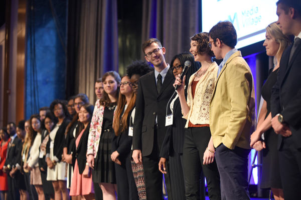 Fellows onstage at 2015 Newsmaker (2)