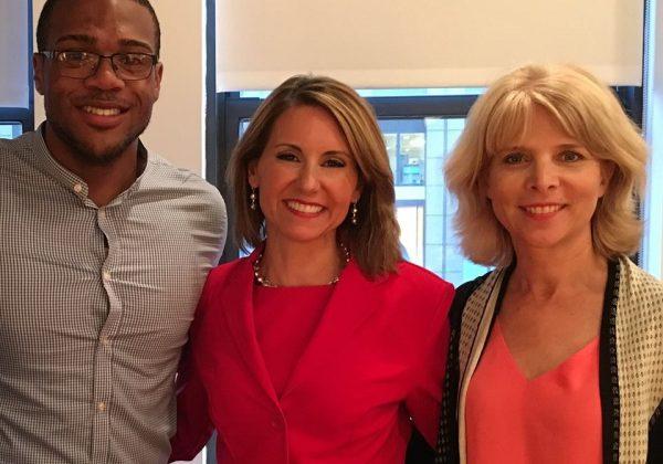 Braxton Jones, inaugural recipient of the Rajah Maples Sponsorship, with is sponsor Rajah (center) and Joyce Tudryn