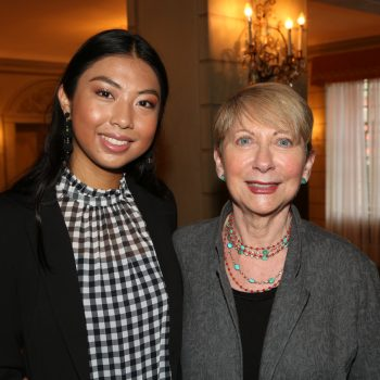 2017 IRTS Summer Fellow Ariana Yaptangco with her sponsor, Betsy Frank, at the 2017 IRTS Newsmaker Breakfast