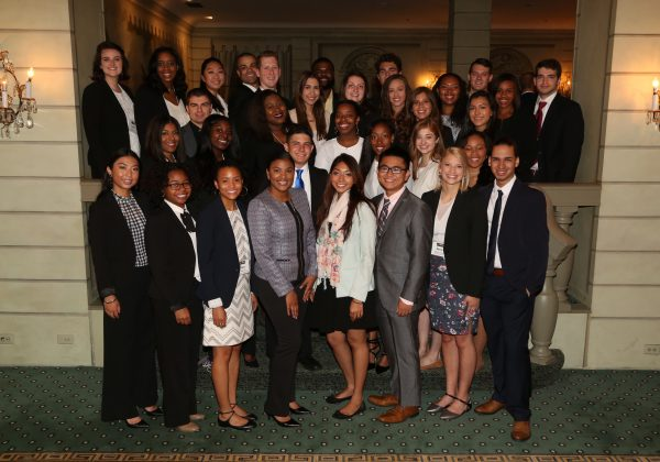 2017 Fellows at the IRTS Newsmaker Breakfast