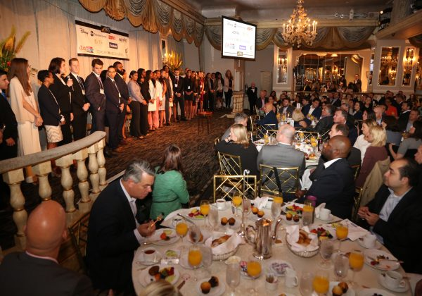 2017 Fellows onstage at IRTS Newsmaker Breakfast