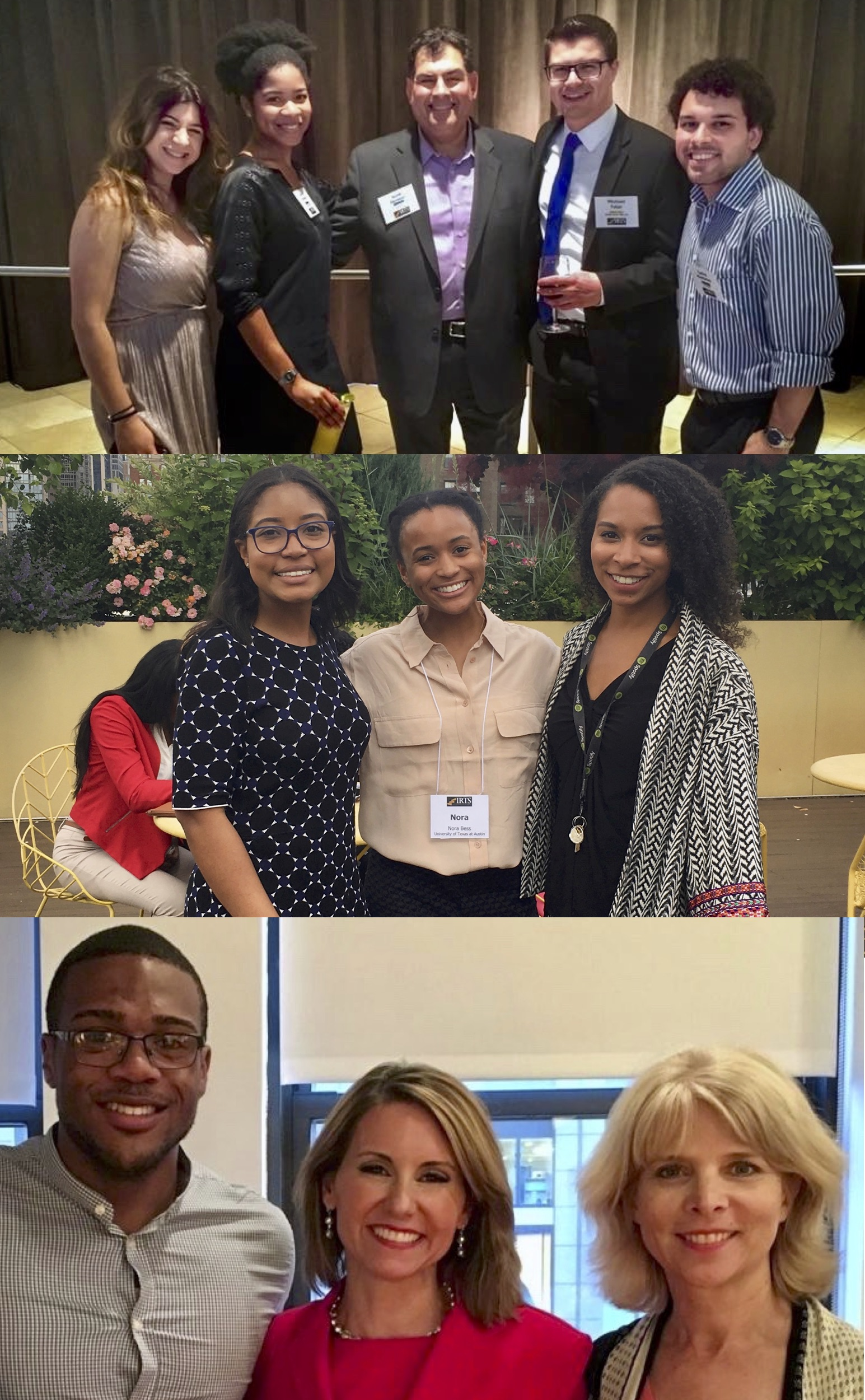 Compilation photo of multiple IRTS Summer Fellows posing with their respective fellowship sponsors
