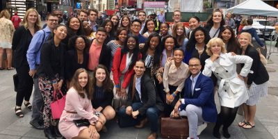 2017 IRTS Summer Fellows and Staff in Times Square