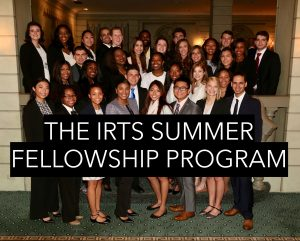 2017 Fellows posing for a group shot at the 2017 IRTS Newsmaker Breakfast