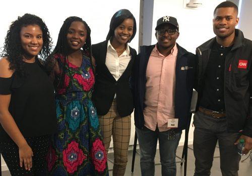 "2017 IRTS Multicultural Career Workshop ""Young Professionals"" Panel. Featuring 5 IRTS Former Fellows and Broadcast Sales Associates. Imelda Burgan, Gentrix Shanga, Danielle Brooks, Malik Johnson, and Micah Minter"