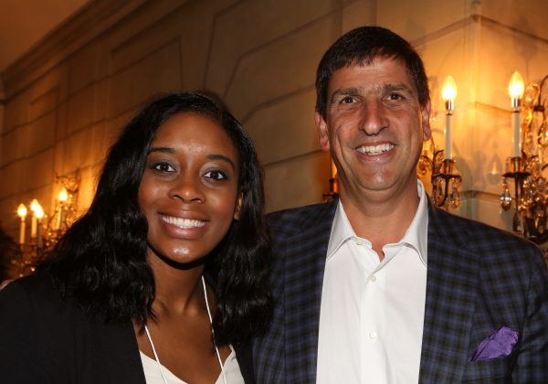Michelle Nwokedi, a 2017 IRTS Summer Fellow, with her sponsor, IRTS Board Member Bruce Lefkowitz