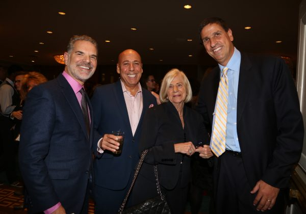 Bruce Lefkowitz with Alan Brown and fellow IRTS board members Jack Myers and Peggy Green at the 2017 IRTS Hall of Mentorship Dinner