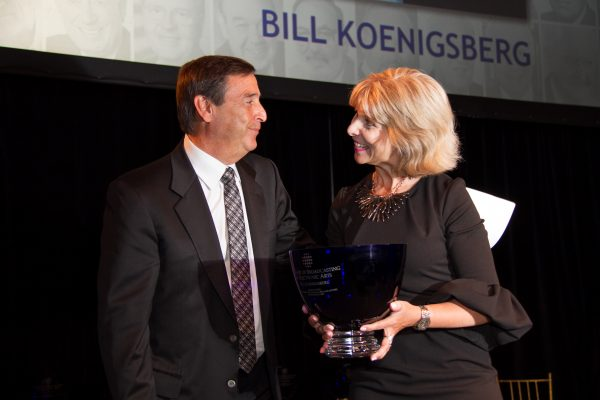 2017 Honoree Bill Koenigsberg accepting his Giants award