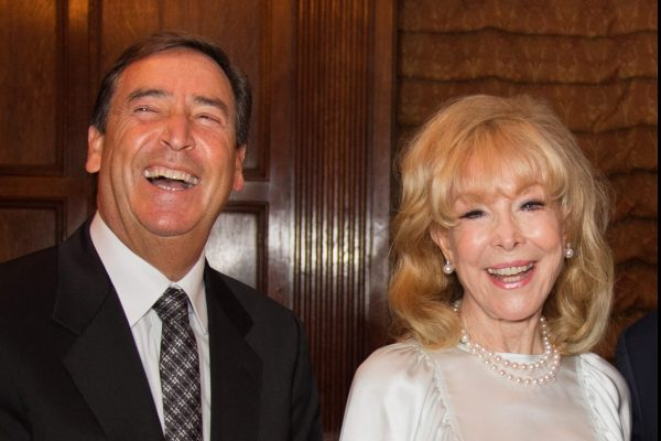 2017 Giants Honorees Bill Koenigsberg & Barbara Eden having a laugh before the award ceremony