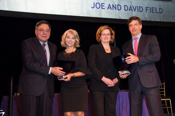 2017 Honorees Joe & David Field accepting their Giants awards