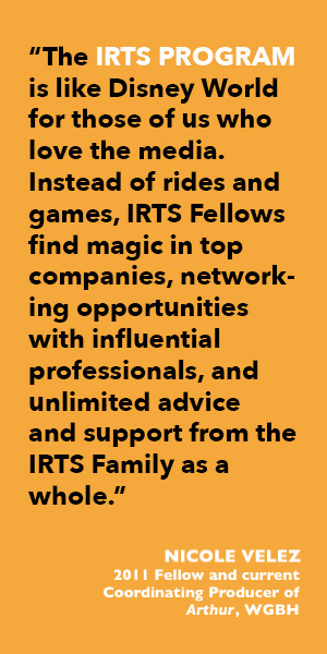 Quote from 2011 IRTS Summer Fellow Nicole Velez with updated title