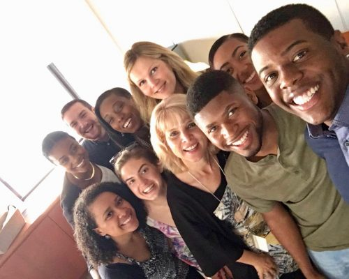 2016 Fellows with IRTS President, Joyce Tudryn, and IRTS VP, Lauren Kruk-Winokur, at the IRTS office!