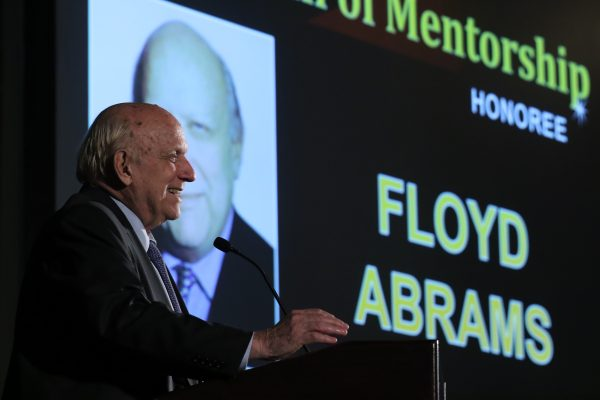Floyd Abrams at 2017 Hall of Mentorship