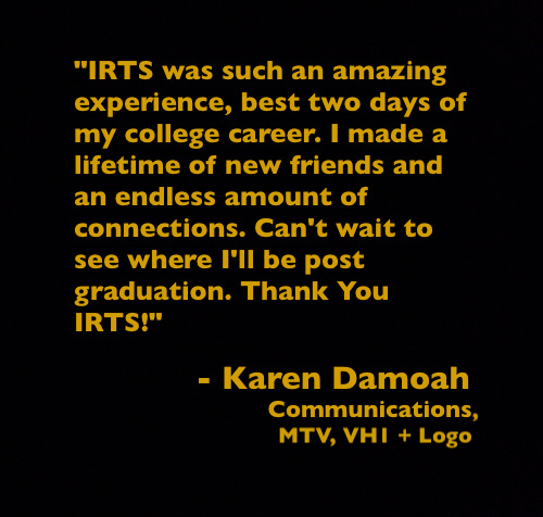 Quote from IRTS Multicultural Workshop alumna Karen Damoah