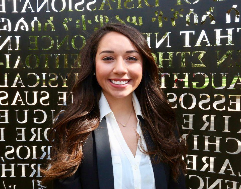 Headshot of Alyssa Garza, 2018 alumna featured in August 2018 newsletter