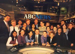 1999 IRTS Summer Fellows on the ABC News set