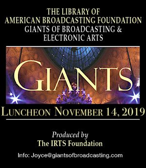 2019 Giants of Broadcasting, being held on Thursday, November 14th