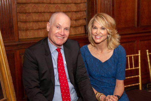 2018 Giants of Broadcasting honorees Jack Abernethy & Paula Zahn