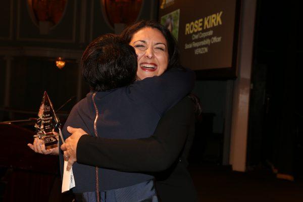 2018 Hall of Mentorship Honoree Rose Kirk & her presenter, Shenan Reed