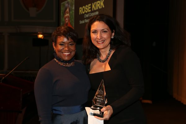 2018 Hall of Mentorship Honoree Rose Stuckey Kirk & her presenter, Shenan Reed