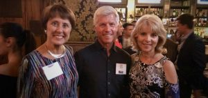 From left to right, Kerrie Malloy Sadler (IRTS '78), John Sadler (IRTS '78), and Joyce Tudryn (IRTS President & CEO)