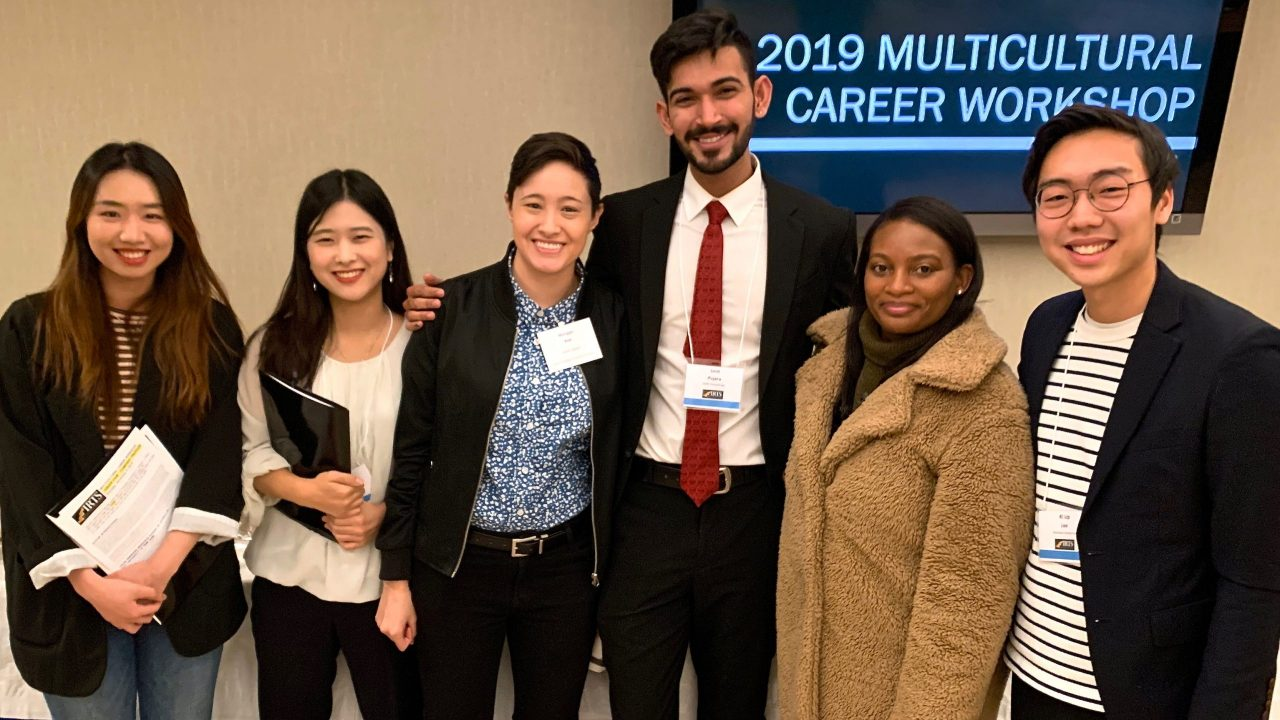 IRTS Alumnae Morgan Kee and Kristy Lyons at the 2019 IRTS Multicultural Career Workshop with some conferees