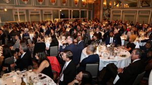 A photo of the audience at the 2019 IRTS Hall of Mentorship Dinner