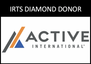 Logo of 2020 IRTS Diamond Donor, Active International