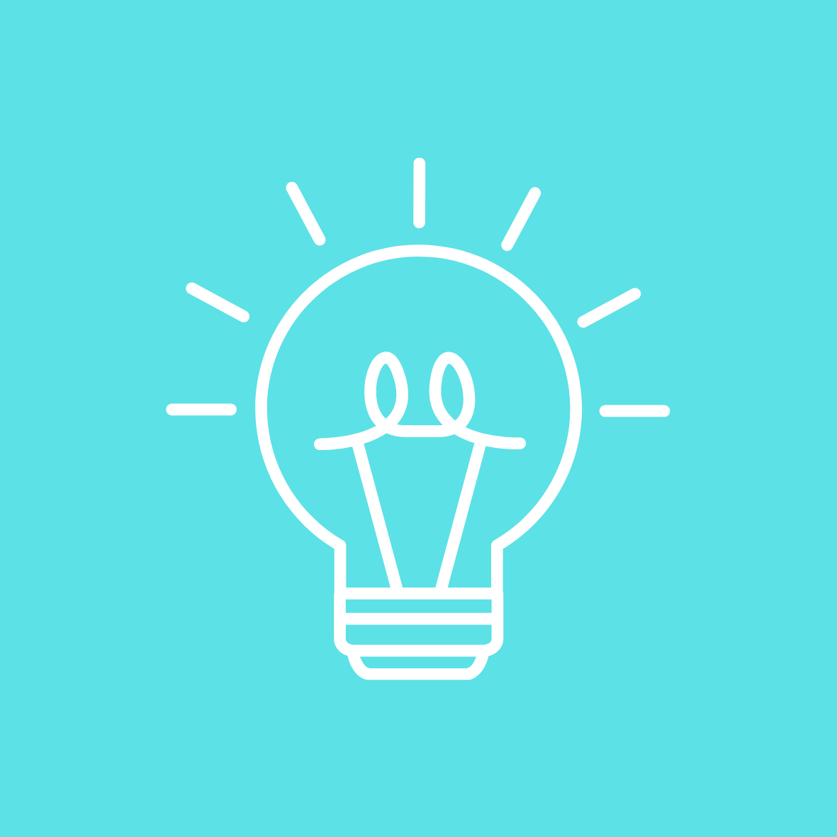 FMLAS Pillar 2. Minimalist cartoon of a lightbulb shining
