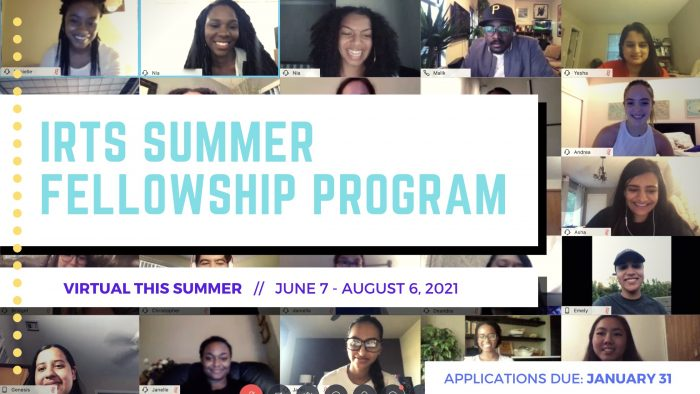 2021 IRTS Summer Fellowship program banner (left-aligned)